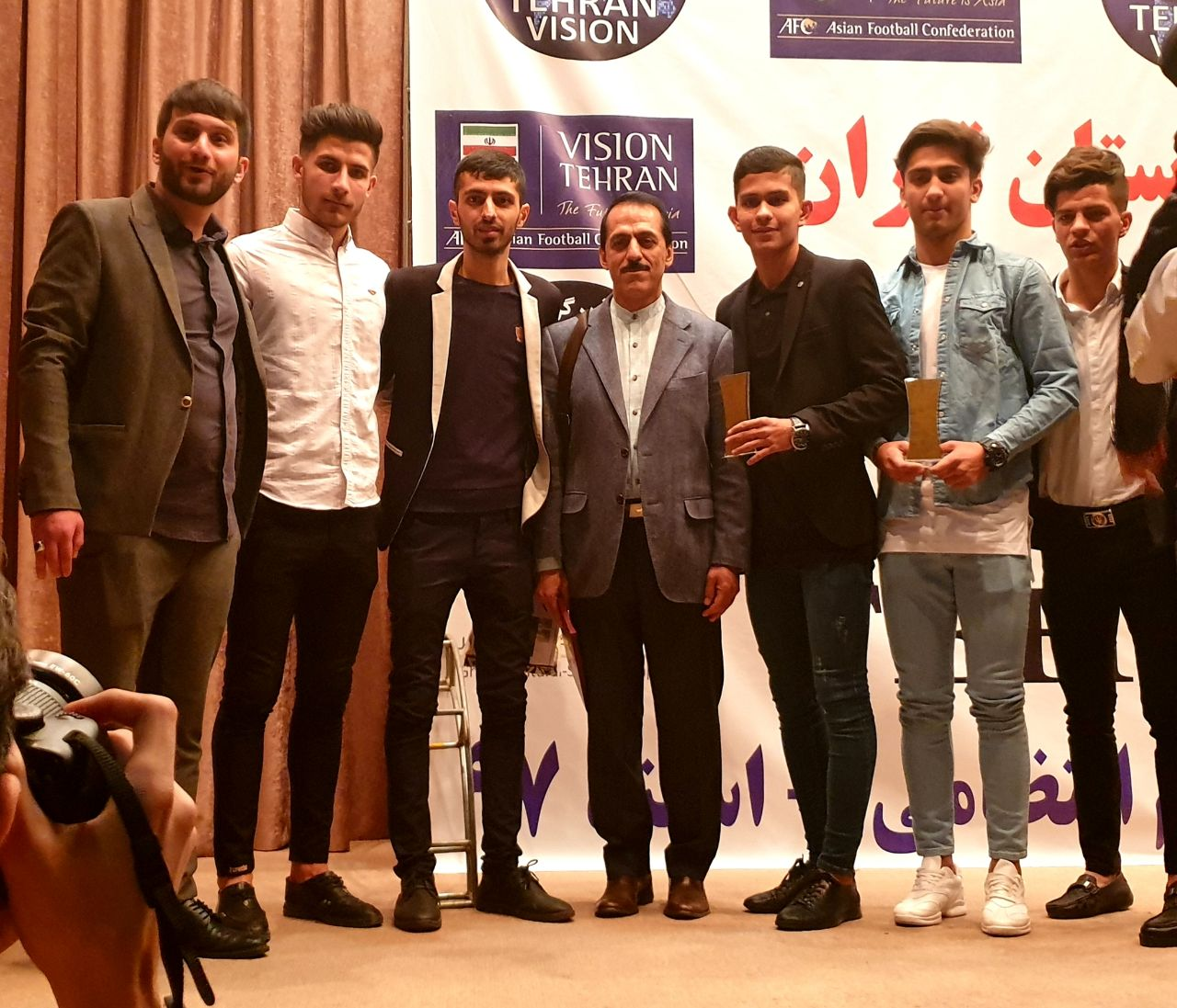 the paykan football academy selected as the best academy club in Tehran
